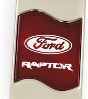 Ford Raptor Rectangular Wave Red Key Fob Authentic Logo Key Chain Key Ring Keychain Lanyard Automotive
