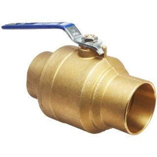 "Milwaukee Valve BA 485B Series Brass Ball Valve, Two Piece, Inline, Lever, 1 1/2"" Solder End Industrial Ball Valves"