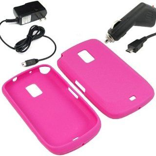 BW Silicone Sleeve Gel Cover Skin Case for MetroPCS Samsung Galaxy S Lightray 4G R940 + Car + Home Charger Magenta Pink Cell Phones & Accessories