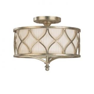 Capital Lighting 4003WG 487 Semi Flush Mount with Frosted Glass Diffuser Shades, Winter Gold Finish   Close To Ceiling Light Fixtures