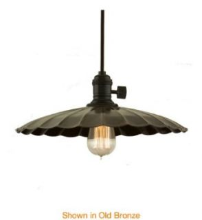 Hudson Valley Lighting 8001 AGB ML3 Single Light Down Lighting Pendant with 5.5 Foot Cloth Cord and Large Floral Rou, Aged Brass   Ceiling Pendant Fixtures