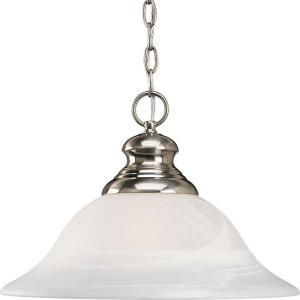 Progress Lighting Bedford Collection 1 light Brushed Nickel Pendant P5090 09
