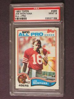 1982 Topps Joe Montana #488 PSA 9 at 's Sports Collectibles Store