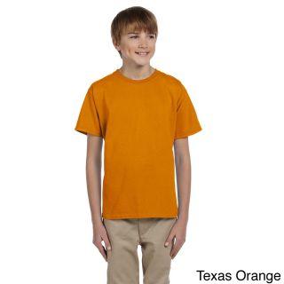 Gildan Gildan Youth Ultra Cotton 6 ounce T shirt Orange Size XS (4 6)