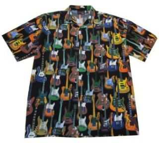 Fender All Over Guitar Shirt, Black, Medium at  Men�s Clothing store Button Down Shirts