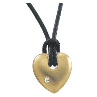 14K Yellow Gold Diamond Heart Pendant GoldenMine Jewelry