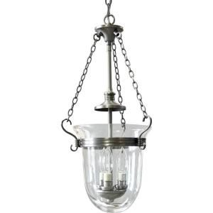 Progress Lighting Essex Collection Antique Nickel 3 light Foyer Pendant P3617 81