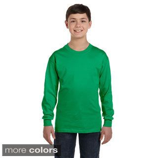Youth Heavy Cotton Long Sleeve T shirt