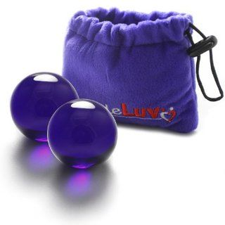 LeLuv Glass Ben Wa Kegel Balls Classic Vagina Exercise Best LARGE Clear Health & Personal Care