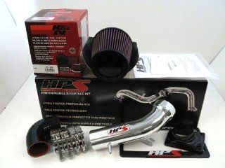 00 05 Mitsubishi Eclipse V6 HPS Short Ram Air Intake System Kit Polished 01 02 03 04 Automotive