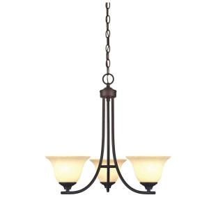 Westinghouse Kings Canyon 3 Light Oil Rubbed Bronze Chandelier 6221500