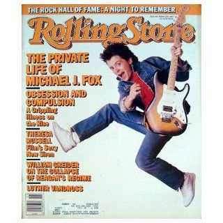Rolling Stone Magazine March 12, 1987 Issue 495 Michael J. Fox Cover Books