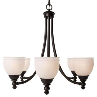 Hampton Bay Stanton Hills 6 Light Sable Bronze Patina Chandelier 27060