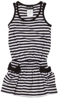Paperdoll Girls 2 6x Sleeveless Stripe Dress With Pockets,Black/White,4 Clothing