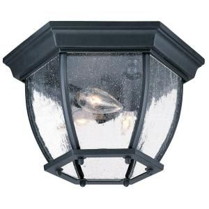 Acclaim Lighting Flushmount Collection Ceiling Mount 3 Light Outdoor Matte Black Light Fixture 5602BK/SD