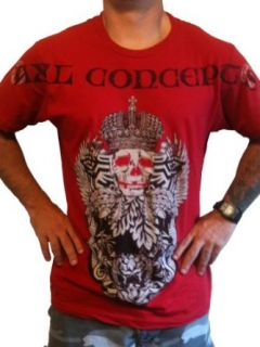Axl Concepts Short Sleeve Aztec Skull Tee Cranberry Clothing