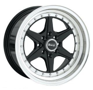15x8 XXR 501 (Black w/ Machined Lip) Wheels/Rims 4x100/114.3 (50158082) Automotive