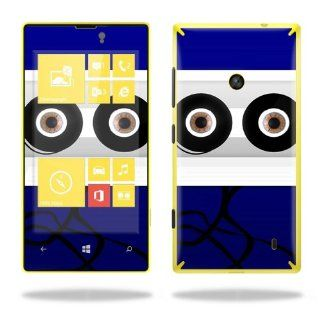Protective Vinyl Skin Decal Cover for Nokia Lumia 520 Cell Phone T Mobile Sticker Skins Cassette Head Cell Phones & Accessories