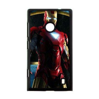 Polycarbonate Hard Case Iron Man 3 NOKIA 520 Printing Cover 00157 Cell Phones & Accessories