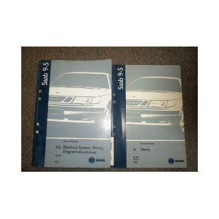 1999 Saab 9 5 32 Electrical System Wiring Diagram News Service Manual SET 2 V saab Books