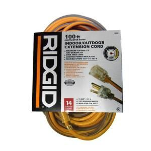 RIDGID 100 ft. 14/3 Heavy Duty Extension Cord AW62624