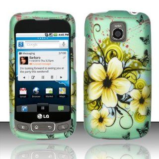 LG Optimus T P509 / LG Phoenix P505 / LG Thrive P506 Case (T Mobile / AT&T) Wonderful Flower Design Hard Cover Protector with Free Car Charger + Gift Box By Tech Accessories Cell Phones & Accessories
