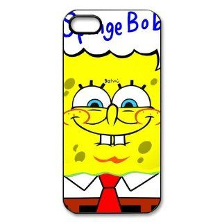 Funny SpongeBob Squarepants Smile Printed iPhone 5 5s Case Cover Cell Phones & Accessories