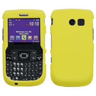 Yellow Phone Protector Cover(Rubberized) for SAMSUNG R360 (Freeform II) Cell Phones & Accessories