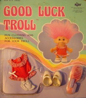 "Russ Good Luck Troll Fun Clothing And Accessories For Your 6"" Troll Doll Red Dress 18373 Toys & Games"