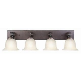 Design House Ironwood 4 Light Brushed Bronze Vanity Light Fixture 517656
