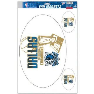 "NBA Dallas Mavericks 2011 NBA Champions 11"" x 17"" Fan Magnet Set   Basketball Equipment  Sports & Outdoors"