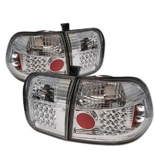 Honda Civic 96 97 98 4DR LED Tail Lights + Hi Power White LED Backup Lights   Chrome (Pair) Automotive