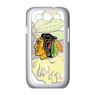 NHL Chicago Blackhawks Team For Samsung Galaxy S3 I9300 Black or White Durable Plastic Case Creative New Life Cell Phones & Accessories