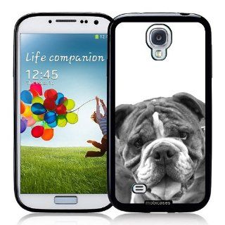 Bulldog Dog (Black & White Image)   Protective Designer BLACK Case   Fits Samsung Galaxy S4 i9500 Cell Phones & Accessories