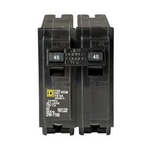 Square D by Schneider Electric Homeline 45 Amp Two Pole Circuit Breaker HOM245CP