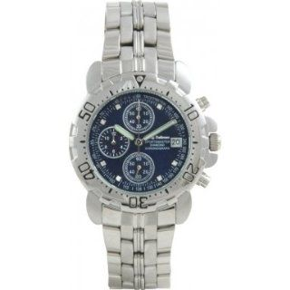 Krug Baumen 241269DM BL Blue Sportsmaster Diamond Mens Chronograph Watch Krug Baumen Watches