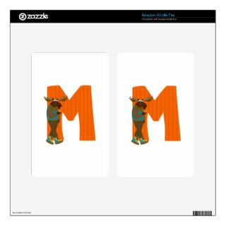 Alphabet Letter M Kindle Fire Decal