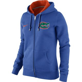 NIKE Womens Florida Gators Classic Fleece Full Zip Hoody   Size Large, Royal