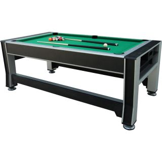 Triumph Sports 84 3 in 1 Rotating Table Air Powered Hockey, Billiards, Table