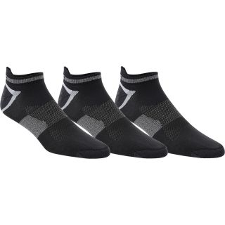 ASICS Mens Quick Lyte Low Cut Socks   3 Pack   Size Large, Black/white/grey