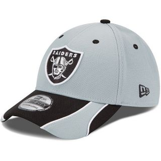 NEW ERA Mens Oakland Raiders 39THIRTY Vizaslide Cap   Size M/l, Grey