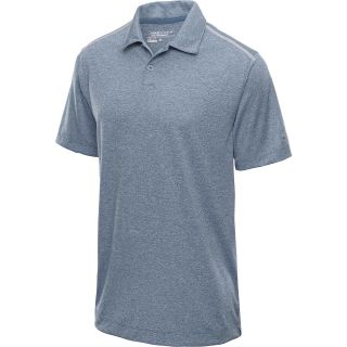 NIKE Mens Lightweight Heather Golf Polo   Size Small, Squadron Blue/silver