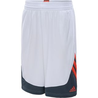 adidas Mens Superstar Basketball Shorts   Size Large, White/red