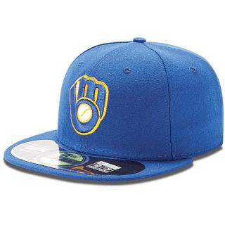 NEW ERA Mens Milwaukee Brewers Authentic Collection Alternate 59FIFTY Fitted