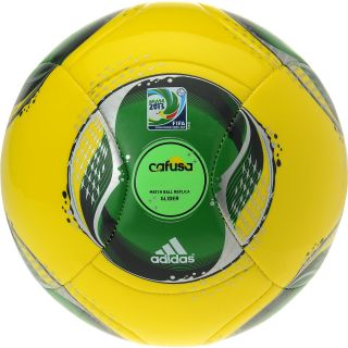 adidas Confederations Cup 2013 Glider Soccer Ball   Size 3, Yellow/green