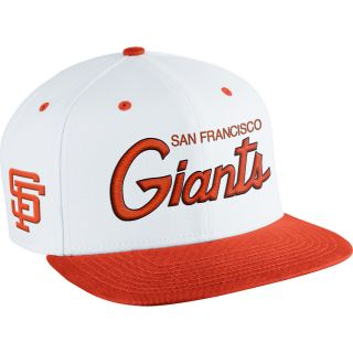 NIKE Mens San Francisco Giants MLB Coop SSC Throwback Adjustable Cap, White