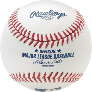 RAWLINGS Official Major League Baseball with Display Case, White