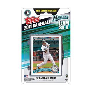 Topps 2011 Miami Marlins Official Team Baseball Card Set of 17 Cards in
