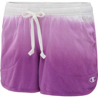 CHAMPION Womens Authentic Dip Dyed Jersey Gym Shorts   Size Large, Raspberry