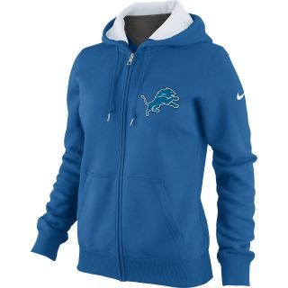 NIKE Womens Detroit Lions Tailgater Fleece Full Zip Hoody   Size 2xl, Bauhaus
